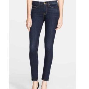 Frame Le Skinny de Jeanne Mid-rise Jeans 25